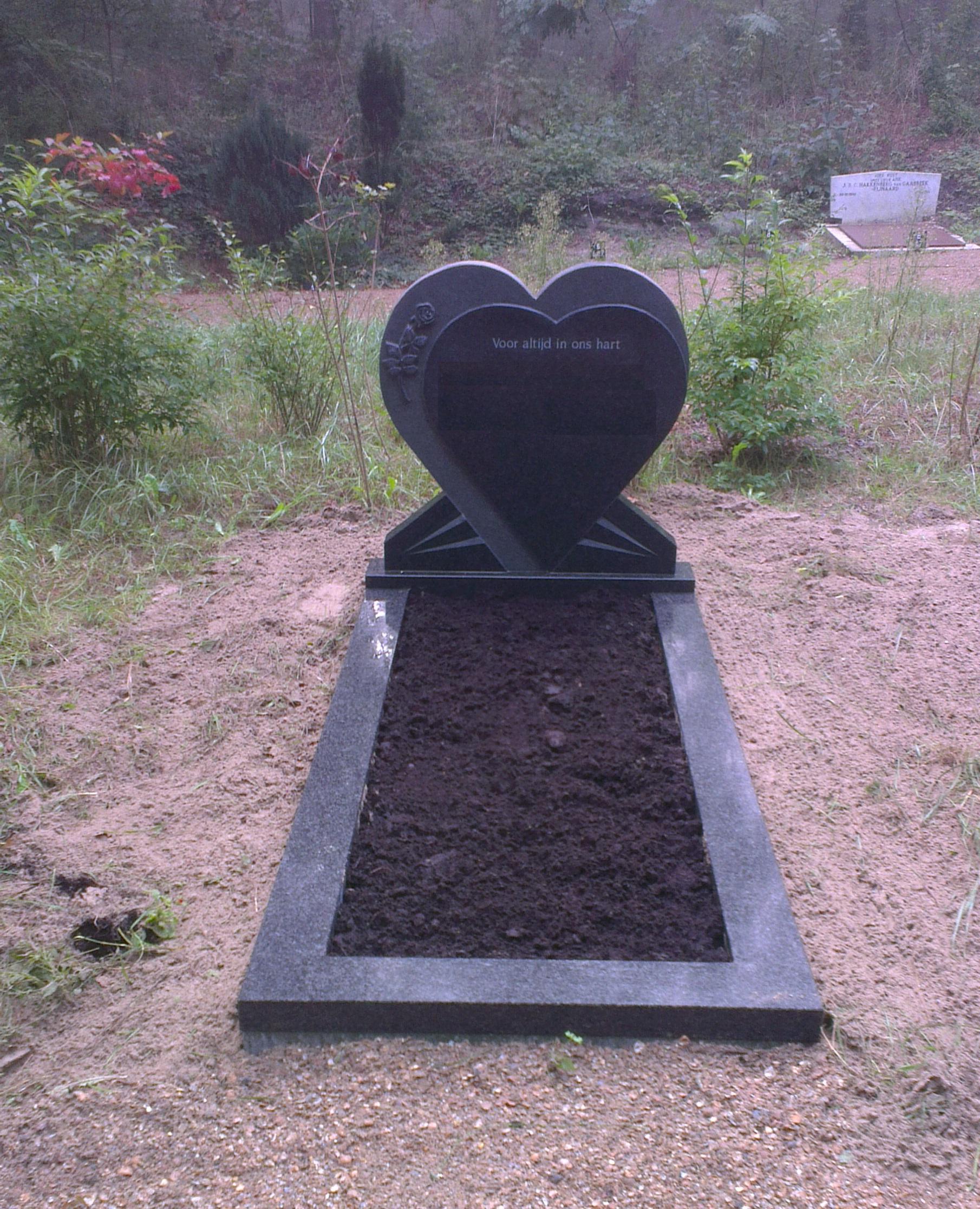 Enkele-grafsteen-hartmodel