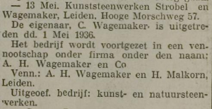 Opa Wagemaker neemt firma over