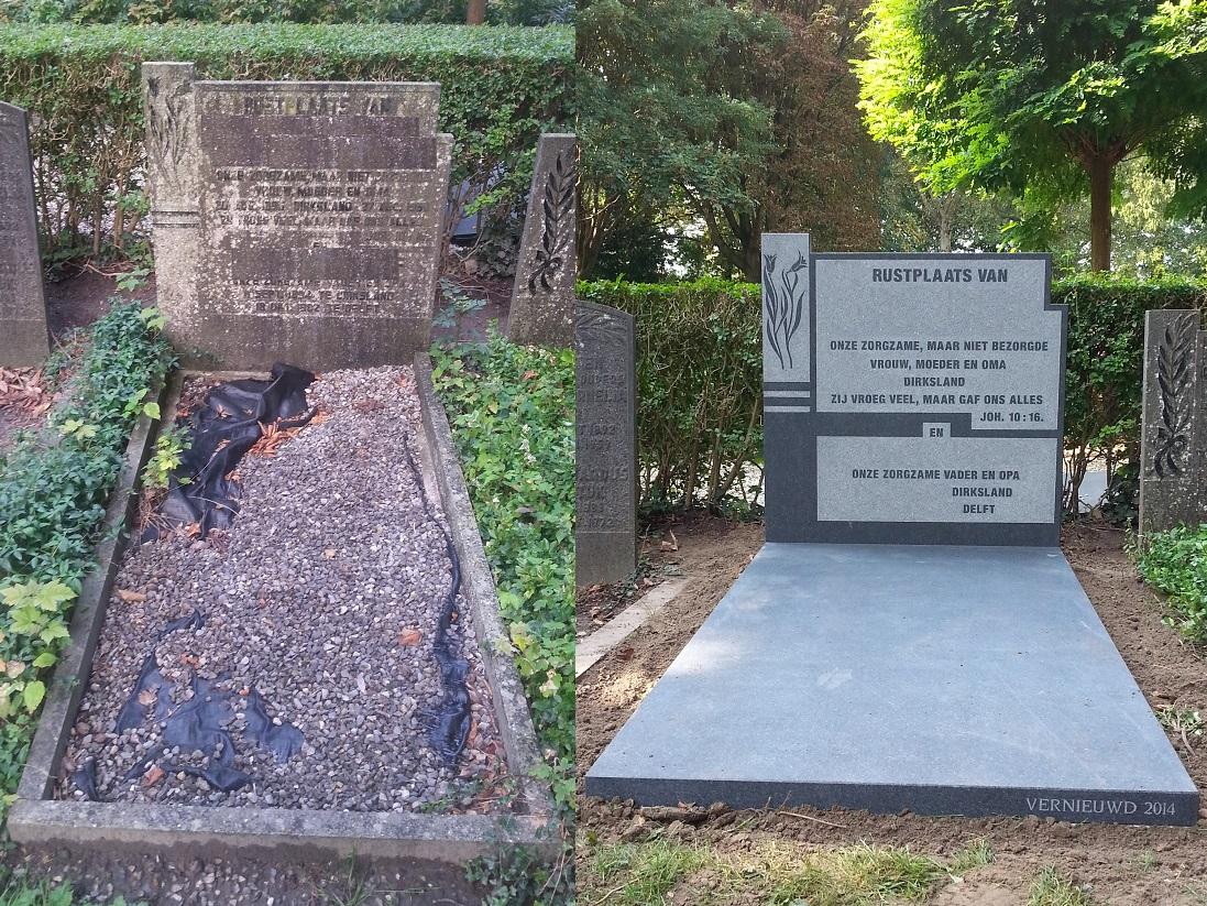 grafsteen renovatie