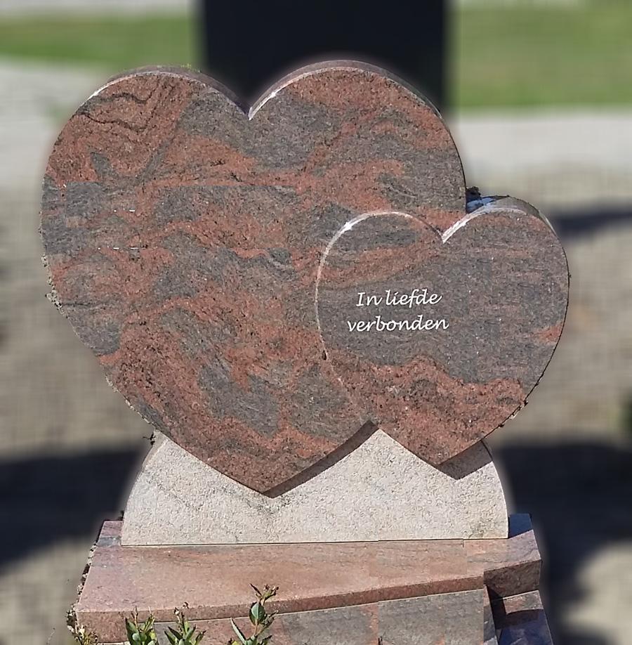 Grafsteen hartvorm Alblasserdam
