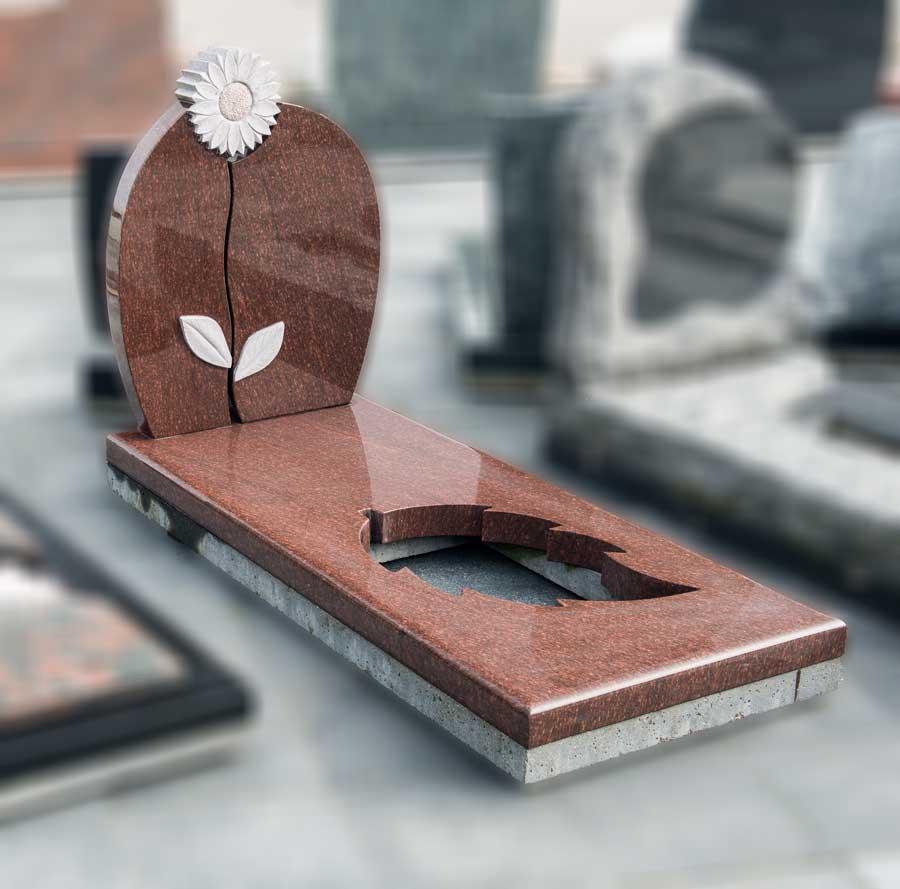 """grafsteen bijzonder 17 """"bloem"""""""