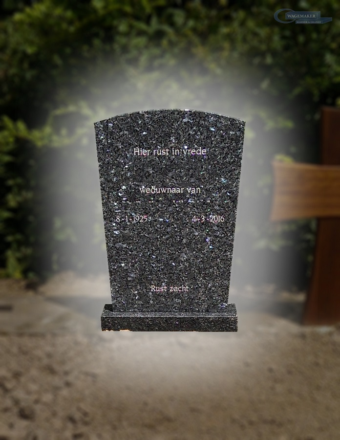 Standaard grafsteen Alblasserdam