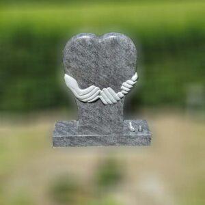 grafsteen hart met handen -1