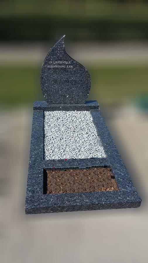 Rotterdam Grafsteen met traan vorm
