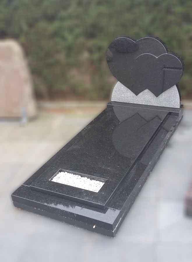 dubbel-hart-grafsteen